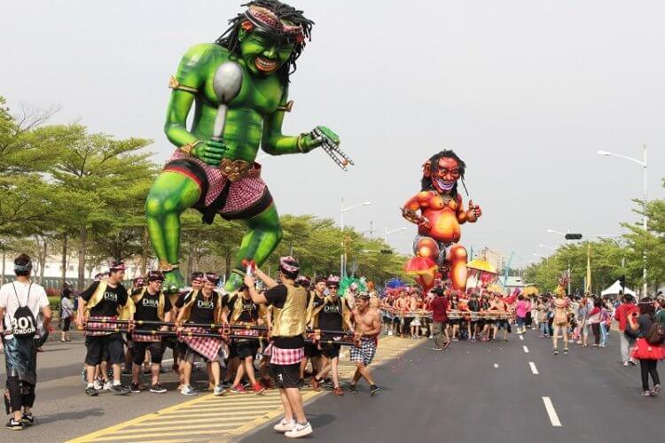 Gmabar ogoh-ogoh terbesar di bali 2018